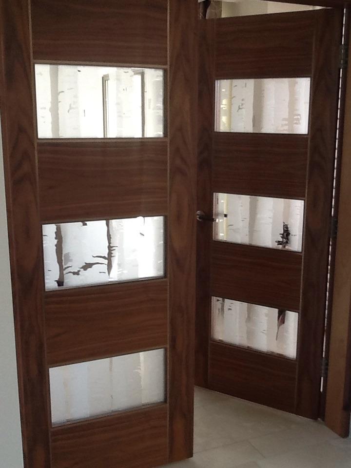 Salisbury House Lancashire, glass door panels