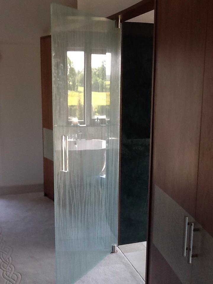 Glass door Salisbury house Lancashire