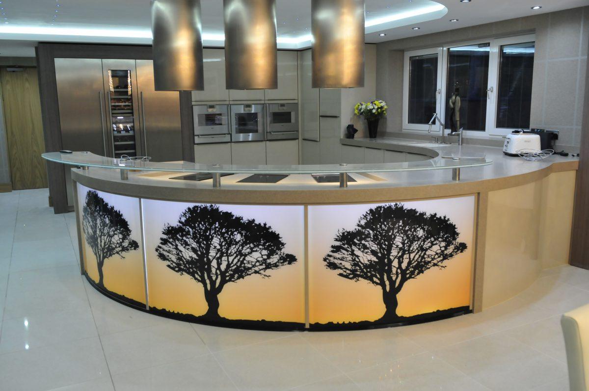 Aughton Lancashire Kitchen with glass display
