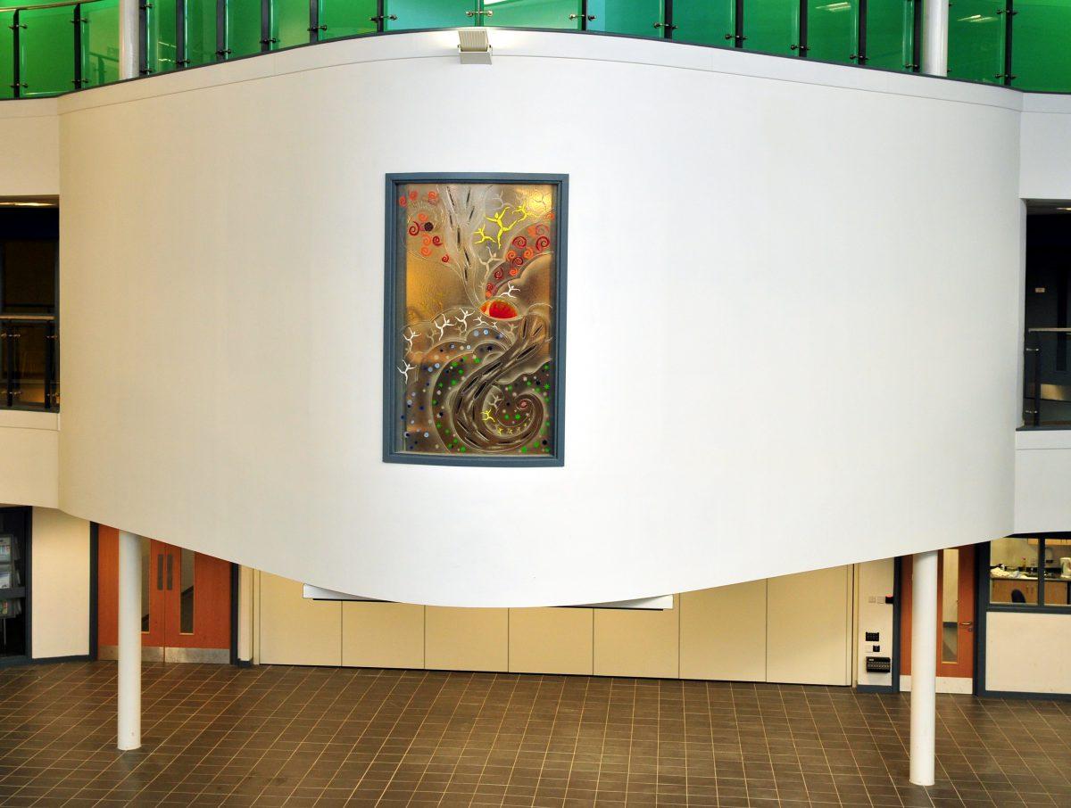 Shuttleworth College glass design feature Lancashire