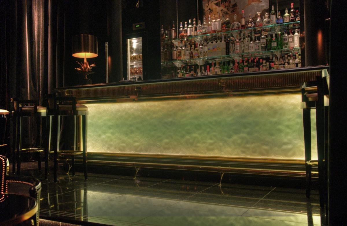 glass bar design Bar Front Lalique Style
