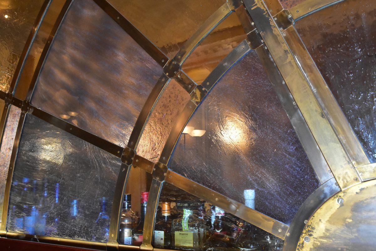 glass bar design RAC Club