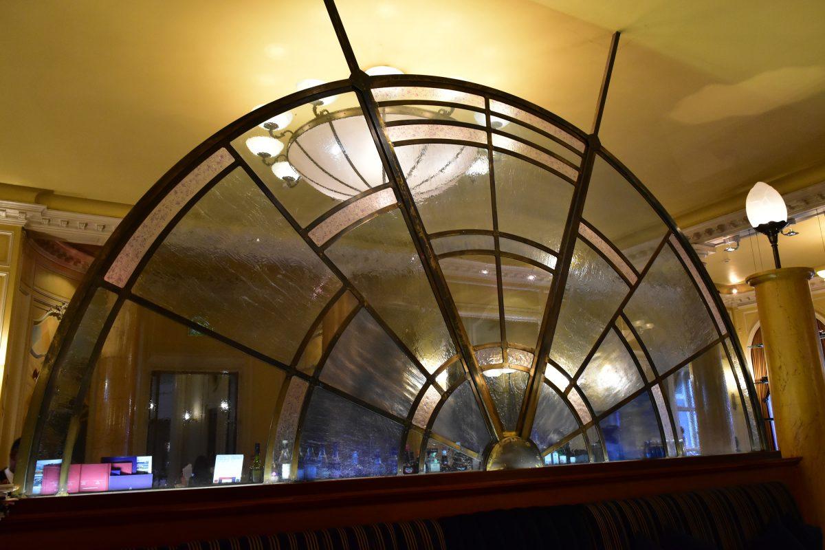 glass bar design RAC Club Bar Back