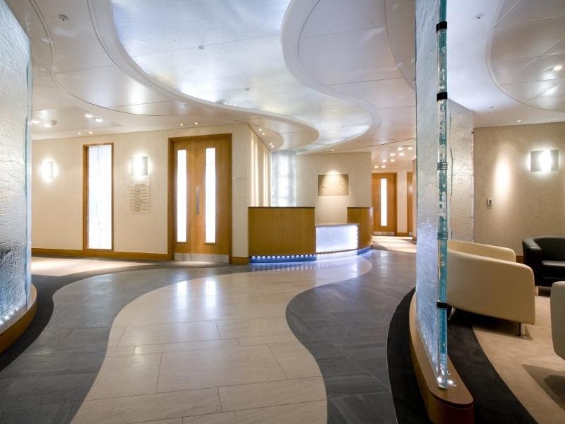Glass office partitions - Daedalian Glass Studios