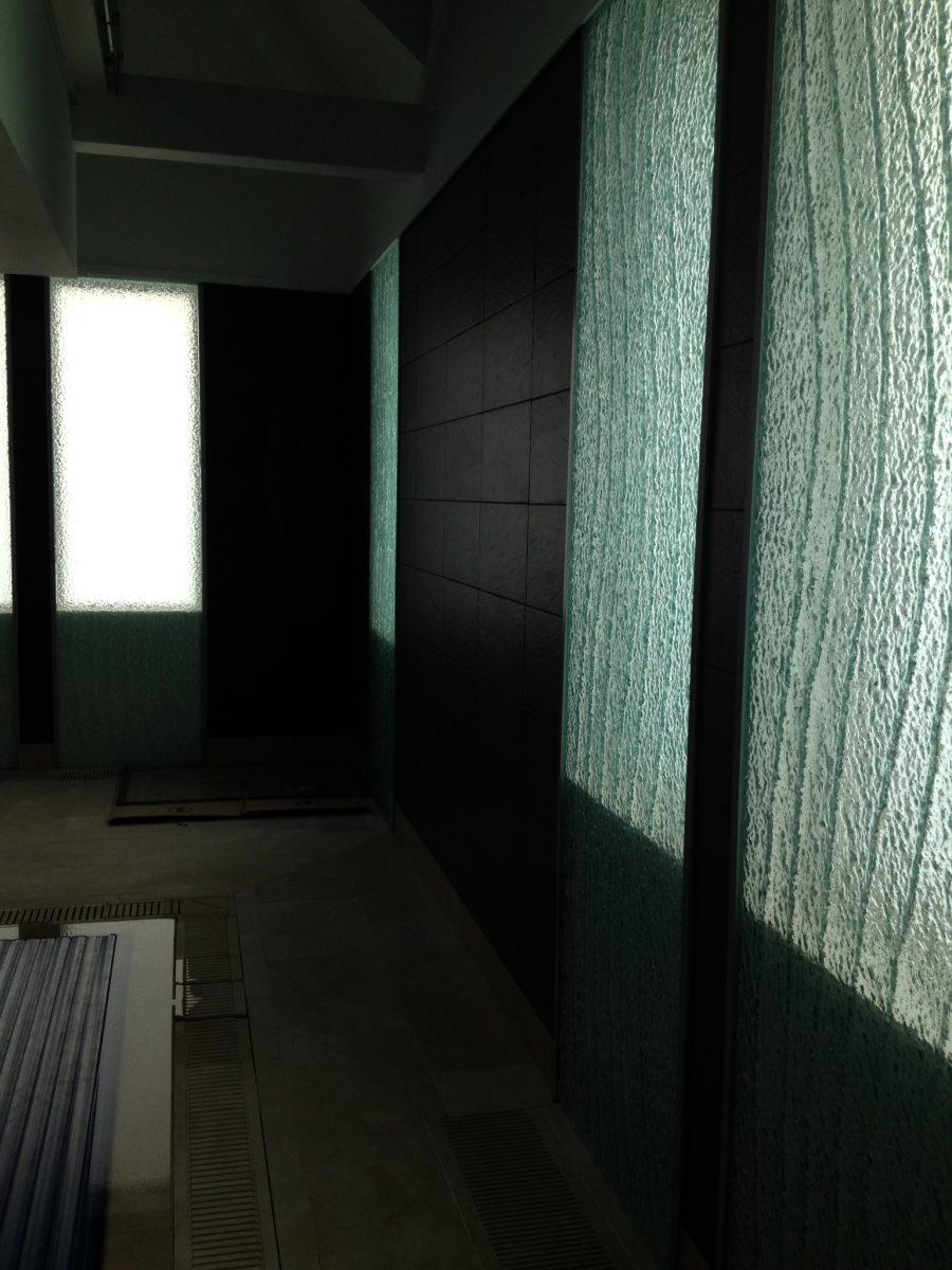 Glass isntallation at Pleasington lancashire