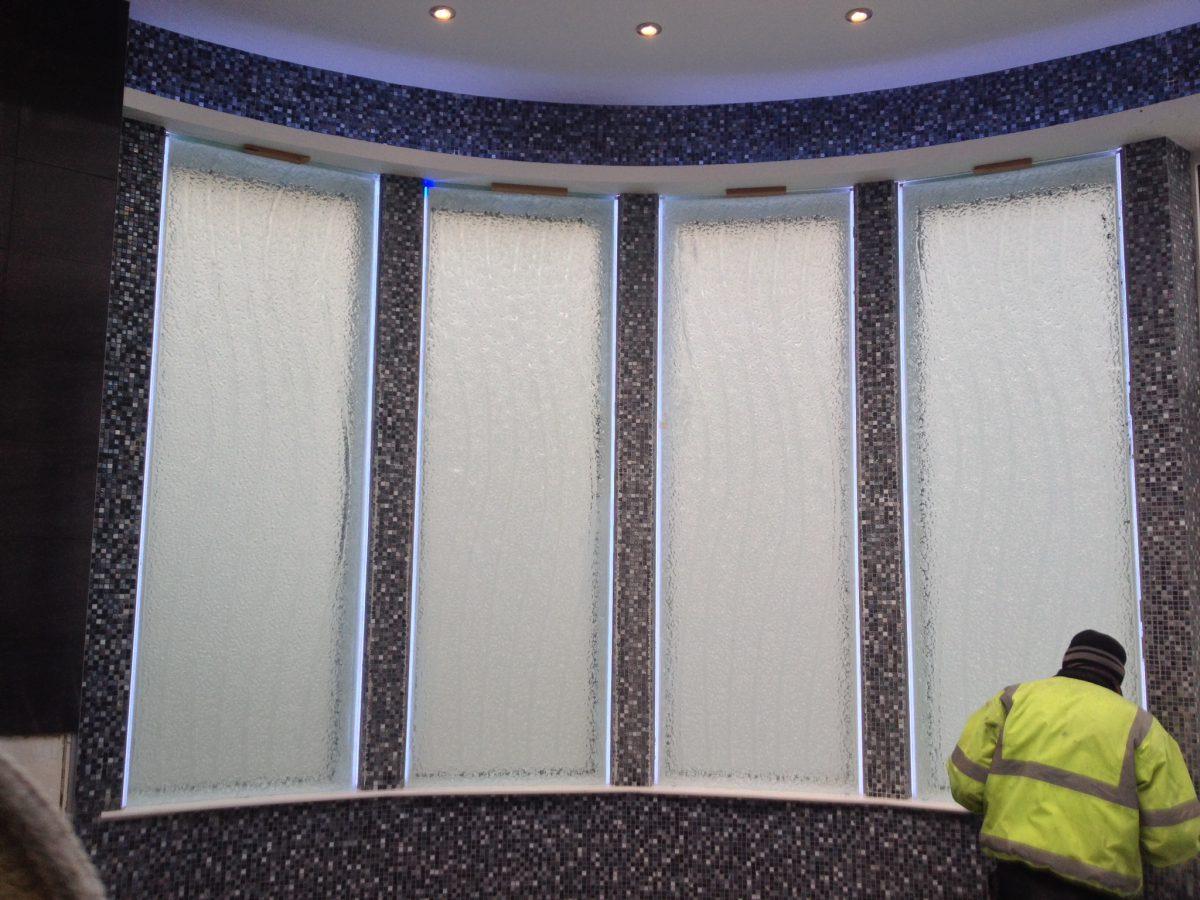 Installation glass panels pleasington lancashire daedalian