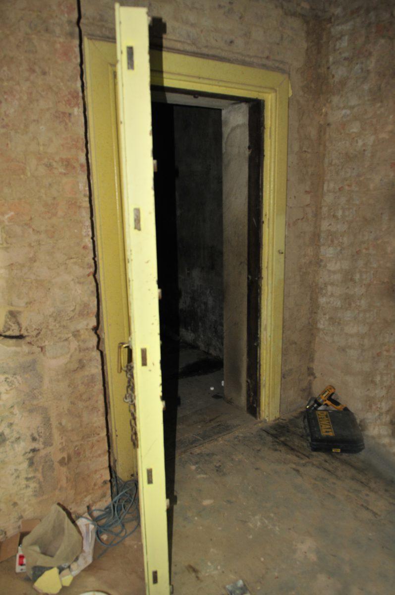 The original doorway at Stancliffe Hall, Derbyshire before work began.