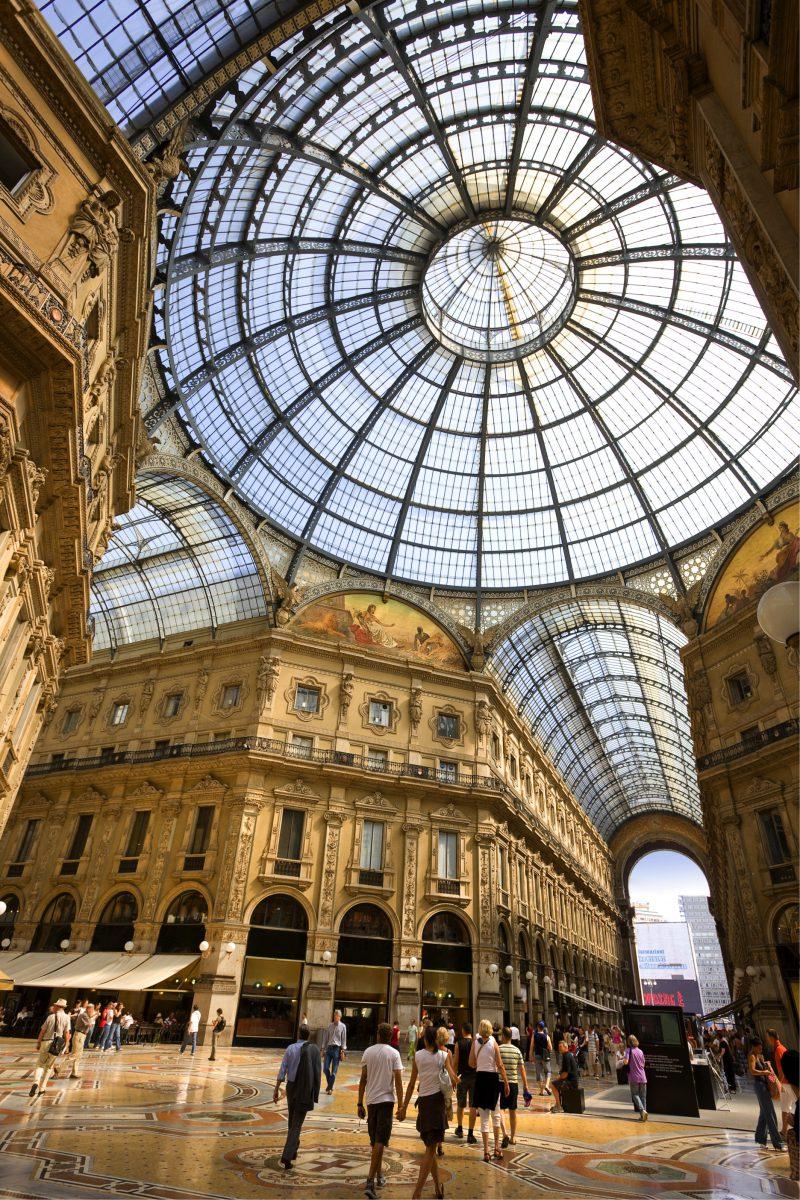 Galleria Vittorio Emanuele II low angle