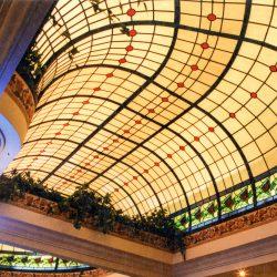 The right side of a oblong torus leaded light skylight.