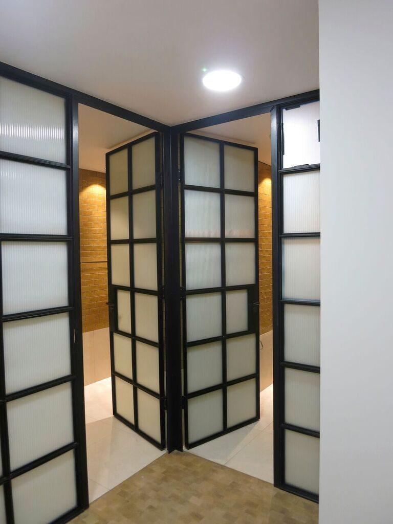 Mild steel framed doors and panels
