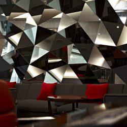 Geometric Mirror Pattern in Daylight