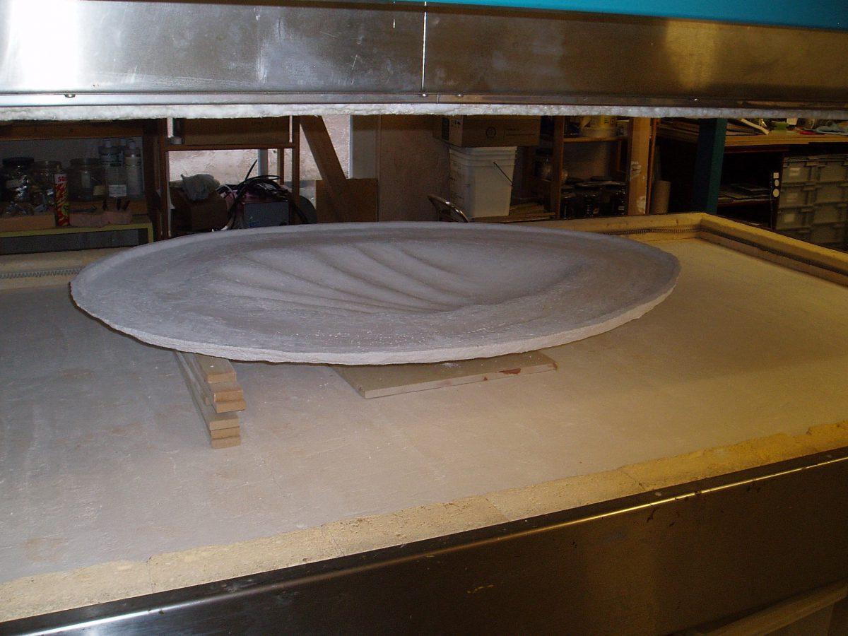 Mould in the kiln