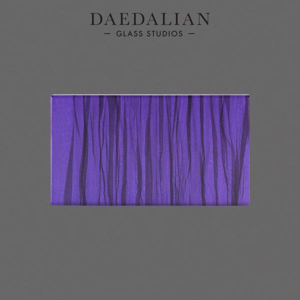 Laminated black chiffon fabric with purple film sample