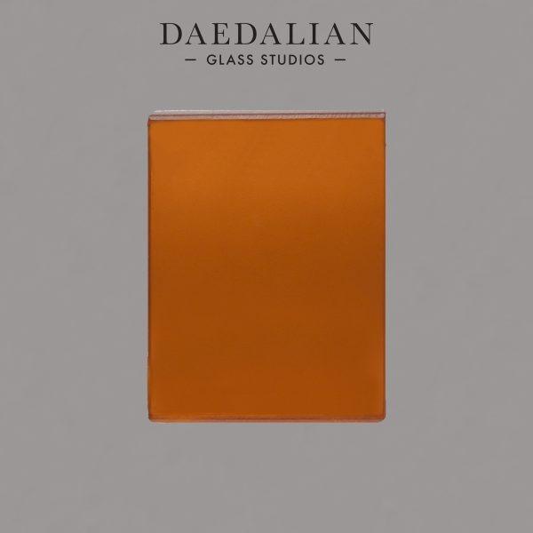 orange laminated coloured film etched sample