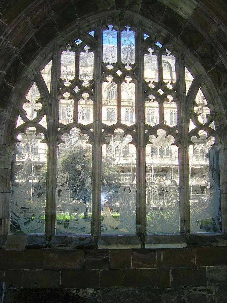 glass design in religious buildings Millenium Window Worcestershire