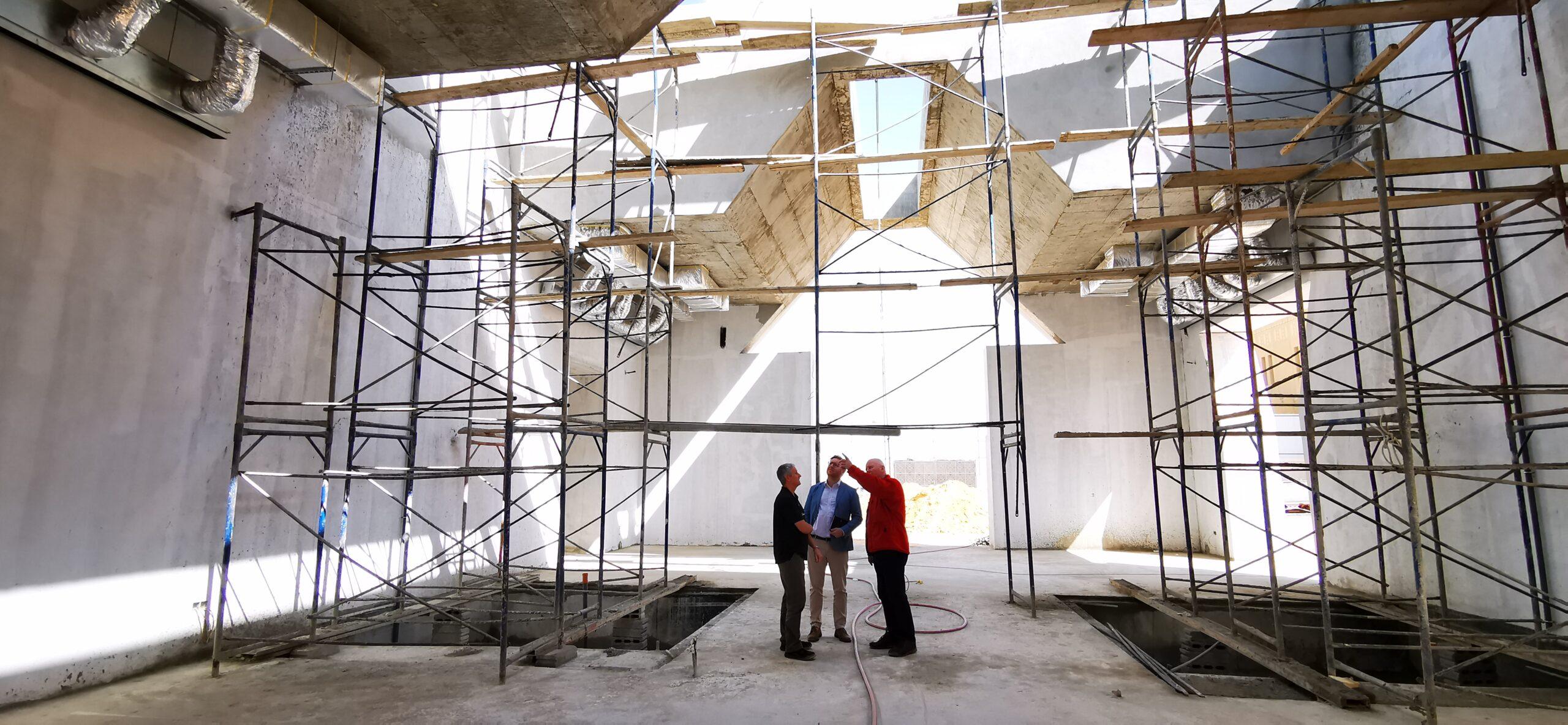 Chris Walmsley with our MD, Joe on a site survey in Riyadh, Saudi Arabia