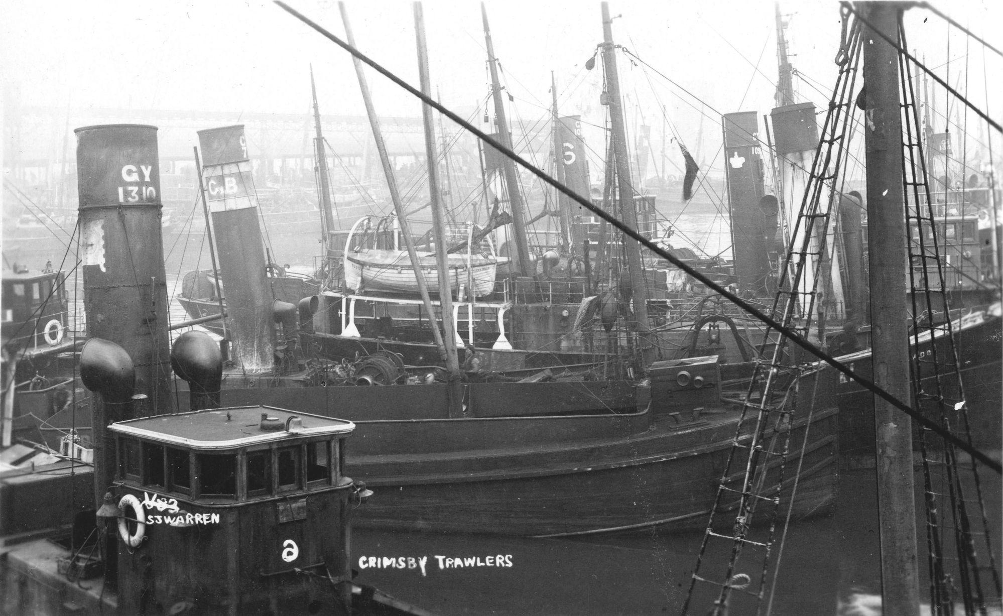 Fishing Trawlers at Grimsby Fishing Docks