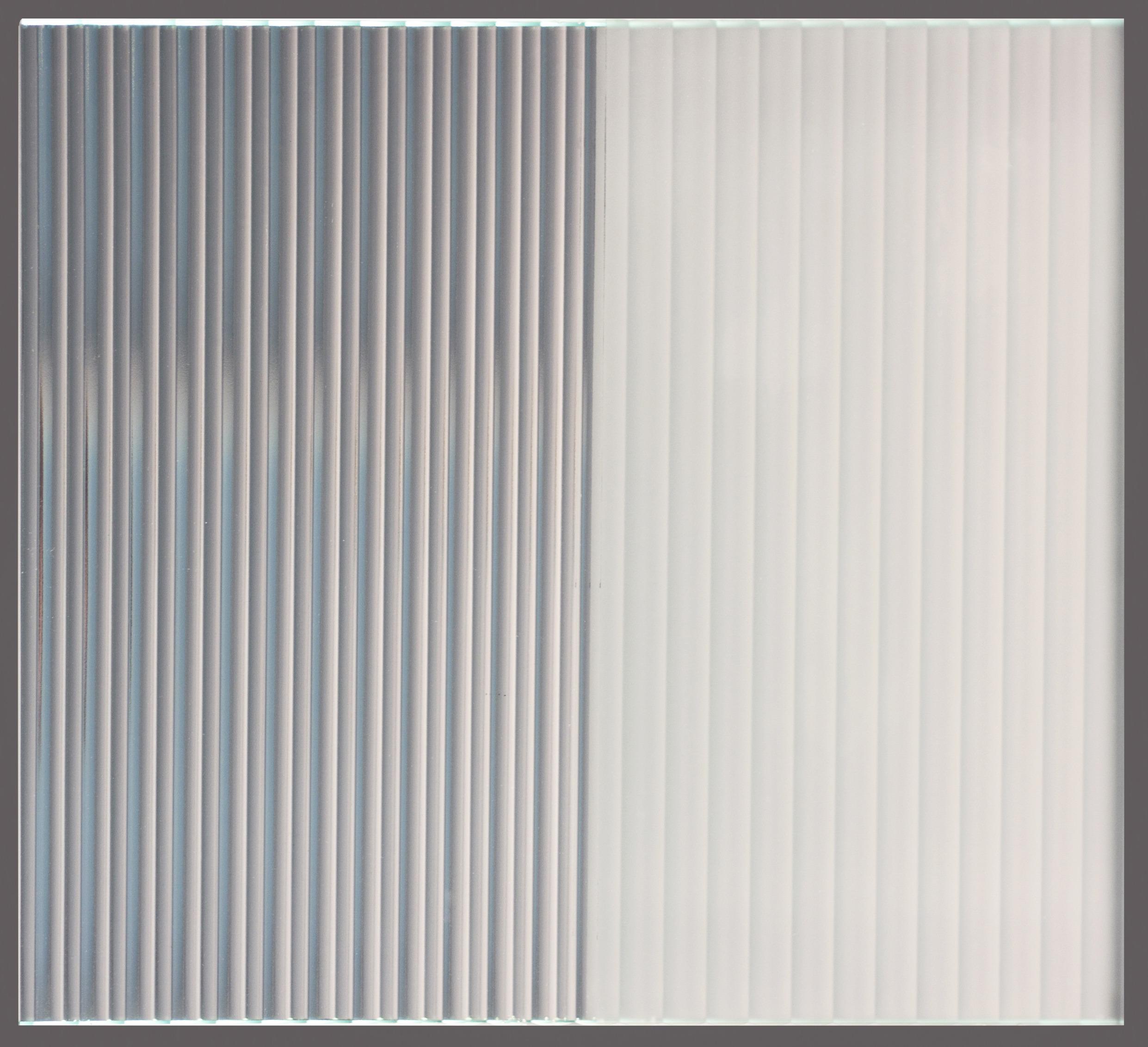 Daedalian Glass Studios Mirrored Reeded Half Etched Sample